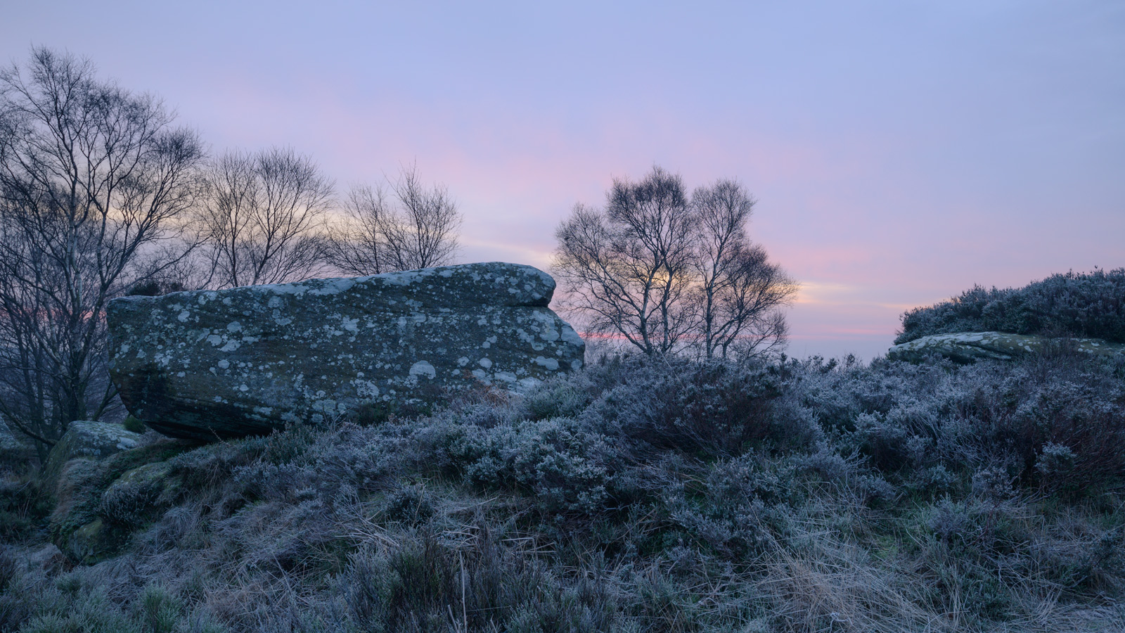 Pinks and blues at Dawn, Brimham Rocks