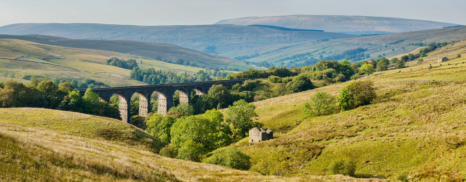 Dent Head Viaduct - stitched panorama from three frames